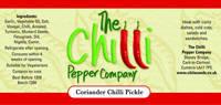 The Chilli Pepper Company product label