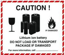 Lithium Battery Transport Warning Stickers
