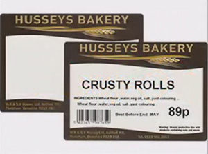 Bakery Labels Printed - Gilly Print High Performance