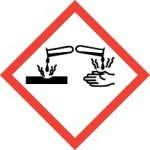CLP Acid or Corrosive Hazard Warning Label