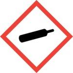 CLP Compressed Gas Hazard Warning Label