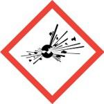 CLP Danger of Explosive & Unstable Substance Hazard Warning Label
