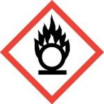 CLP oxidising hazard warning labelling