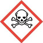 CLP skull & crossbones toxic symbol warning labels