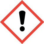 CLP Exclamation Mark Risk of Irritation Hazard Labelling